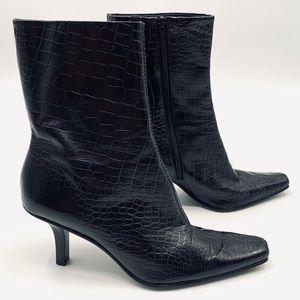 Antonio Melani Miranda Leather Crocodile Boots